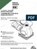 Craftsman ¼ Sheet Sander Model 315.111770