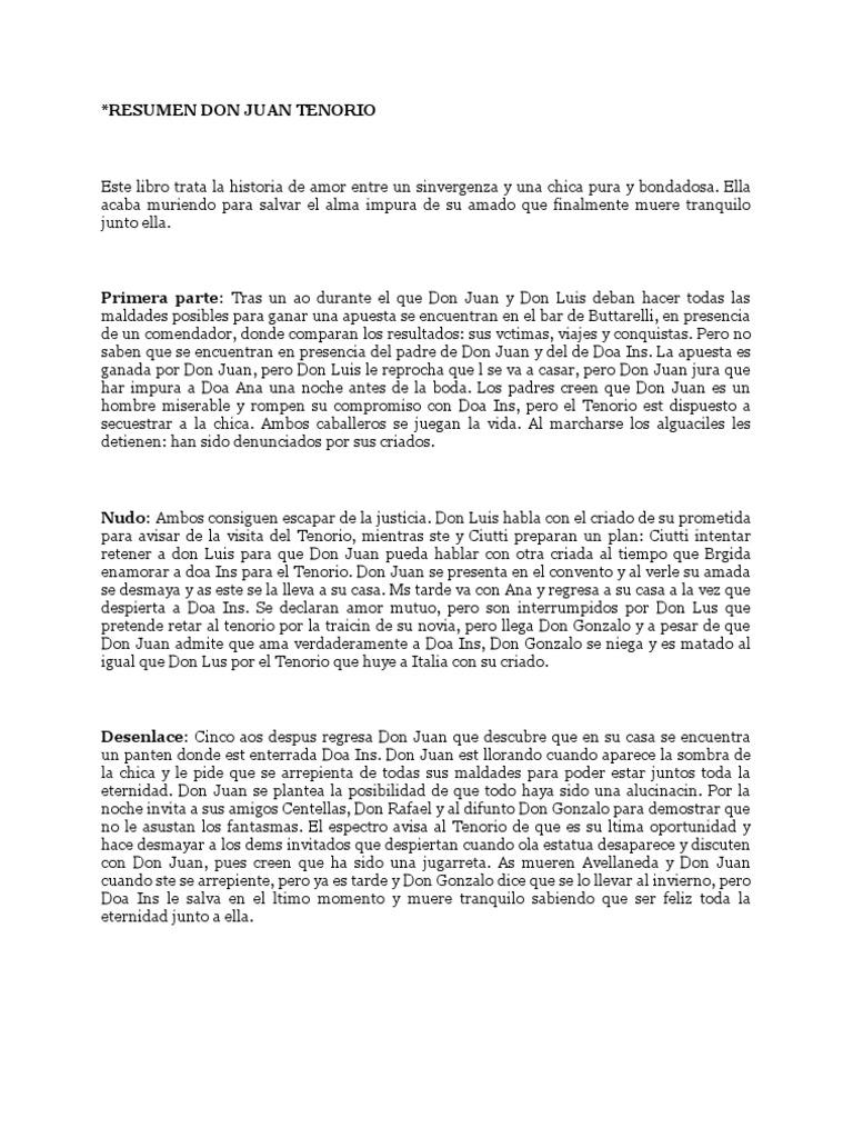 Resumen Don Juan Tenorio