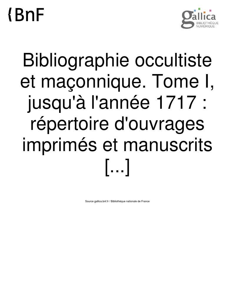 002e09790328ee JOUIN Mgr. E. et DESCREUX V.  Bibliographie Occultiste et Maçonnique 1930