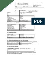 Consumer RMA Claim Form