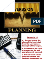 Proverbs on Planning