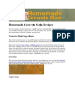 Home Made Concrete Stain