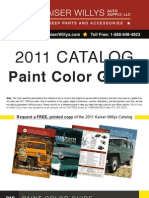 Color Guide Kaiser Willys Catalog