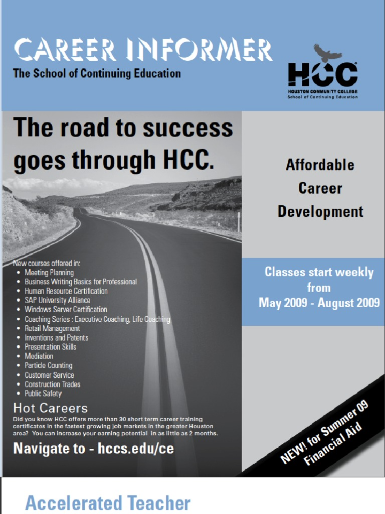 HCC Continuing Education Summer Schedule | Cisco Certifications ...