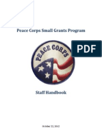 Peace Corps Small Grants Program Staff Handbook | October 22, 2012
