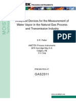 GAS 2011 Analytical Devices for the Measure of Water Vapor in the Natural Gas Process and Transmission Industry