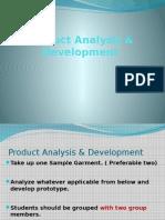1. Product Analysis & Development