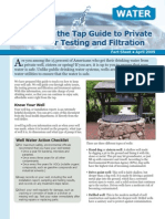 Guide to Private Well Water Testing and Filtration