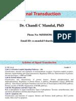 Signal Transduction-1 (17!1!2013)  BY CHANDI CHARAN SINGH MANDEL .