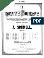 Schmoll,A. 10 Sonatines Progressives Op.61 70