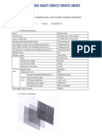 1-The Solar Module Technical Datasheet (DASSSPL)