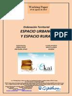Ordenación Territorial. ESPACIO URBANO Y ESPACIO RURAL (Es) Spatial Planning. URBAN SPACE AND RURAL SPACE (Es) Lurralde Antolaketa. HIRI ETA LANDA GUNEAK (Es)