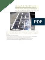 Como Hacer Un Panel Solar