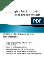 Strategies for Improving Oral Presentations