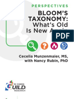 Bloom's Taxonomy--- What's Old Is New Again--2013