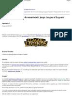 Comprometidos Datos de Usuarios Del Juego League of Legends