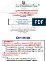Evolucion Pobreza Monetaria, ACTUALIZACION ABRIL 2010 WEB Version 2