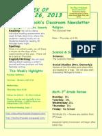 August 25 Newsletter