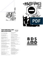 The Power of Our Voices - Zine on Cultural Boycott of Israel