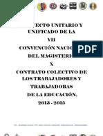 Proyecto Unificado de La VII Contratacion Colectiva 2013-2015