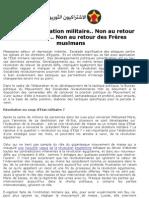 A bas la domination militaire- Non au retour des fouloul- Non au retour des Frères  muslmans  15/8/2013