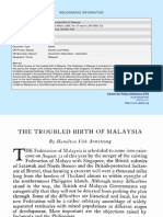 Troubled Birth of Malaysia