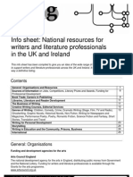 National Resources for Writers and Literature Professionals 09