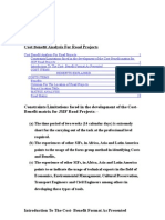 Cost Benefit Analysis For Road Projects