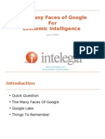 The Many Faces of Google for Economic Intelligence
