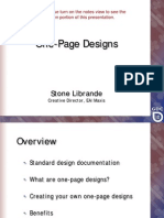 Games Dev - One Page Designs