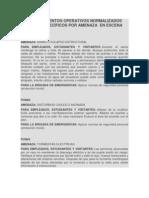 PROCEDIMIENTOS OPERATIVOS NORMALIZADOS (PONS) ESPECÍFICOS POR AMENAZA  EN ESCENA
