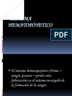 SISTEMA  HEMATOPÓYETICO