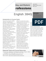 English 3840j Syllabus Fall13
