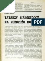 Czesław Łapicz - Tatarzy białostoccy na rozdrożu kultur