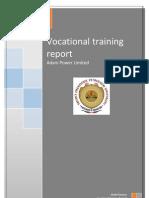 Adani Power Ltd. Training Report