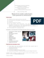 Instrucciones Audiovisual 2009