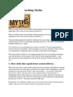 4 Popular Preaching Myths