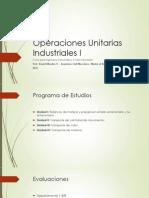 clase 1 y 2 - Introducción a las operaciones unitarias