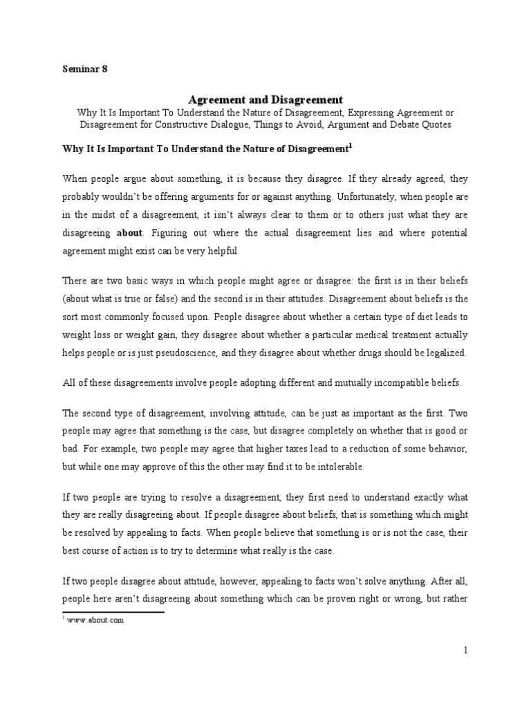 Seminar 08 agreement and disagreement attitude psychology seminar 08 agreement and disagreement attitude psychology argument platinumwayz