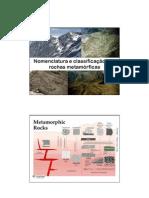 2 - Nomenclatura e classif. rxs metamórficas