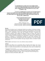 análise das representações sociais sobre meio ambiente de técnicos e professores das secretarias de educação e meio ambiente de municípios da bacia de campos – rj para enpec