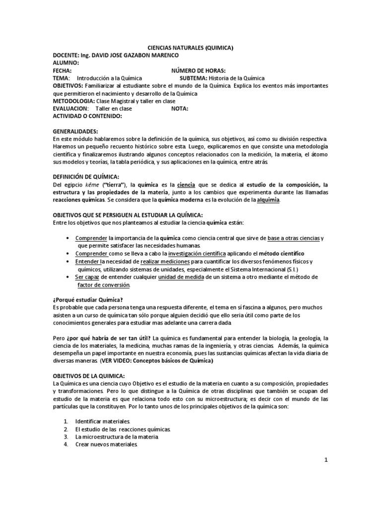 Modulo quimica 10 urtaz Gallery
