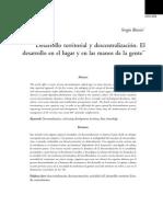 3. Desarrollo Territorial y Descentralizacion - Sergio Boisier