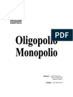 Oligopolio - Monopolio