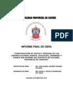 Informe Final de Obra Alfonso Ugarte