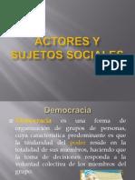 Actores y Sujetos Sociales