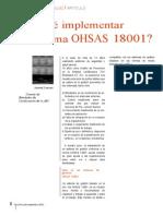 ¿Por qué implementar un sistema OHSAS 18001-.2012