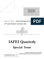 IAFEI Quarterly Special Issue World Congress 2010 Compressed