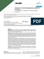 Multiple sex partner behavior in female undergraduate students in China