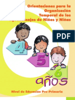 Organización Temporal  de Aprendizajes de niñ@s